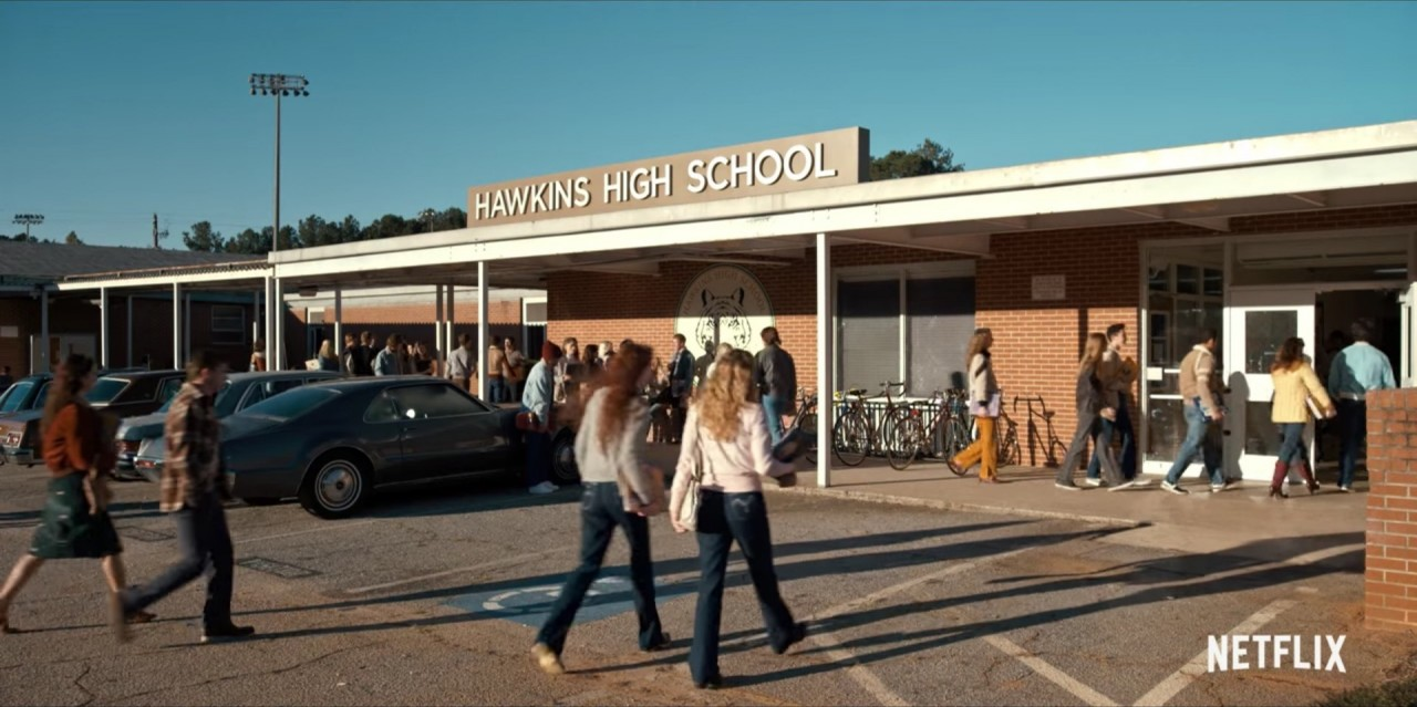 Hawkins High School in STRANGER THINGS (2016)