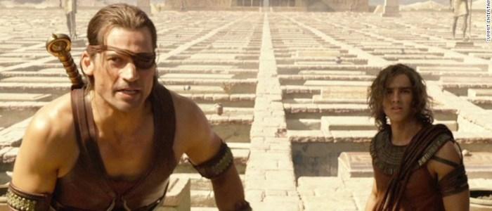 Nikolaj Coster-Waldau and Brenton Thwaites in GODS OF EGYPT.