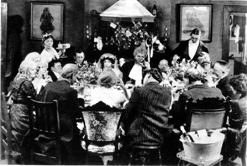 "The wedding banquet in Von Stroheim's ""Greed"". (The Banquet at the World's End?)"