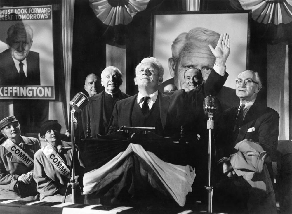 LAST HURRAH, Pat O'Brien, Spencer Tracy, Ricardo Cortez, 1958, politician