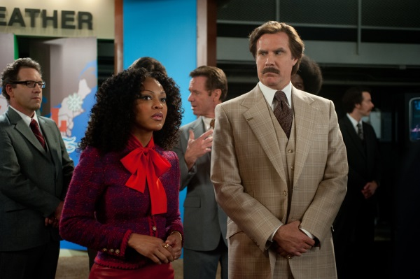 Meagan Good and Will Ferrell in ANCHORMAN 2.