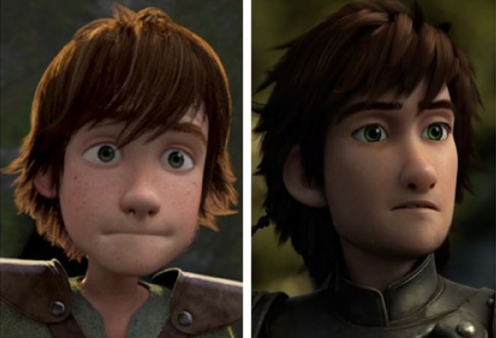 Hiccup before, and after, some kind of magical super-puberty