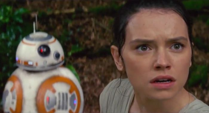 BB-8 and Rey (Daisy Ridley).