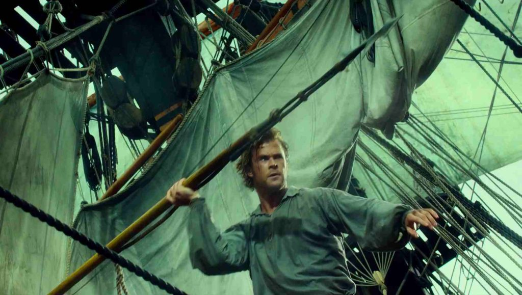 Chris Hemsworth takes aim in IN THE HEART OF THE SEA.