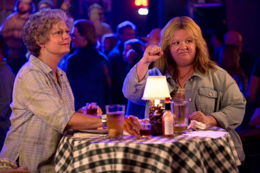 Tammy (Melissa McCarthy) and her grandmother, Pearl (Susan Sarandon).  Interestingly enough, there is only a 24-year age difference between the two.