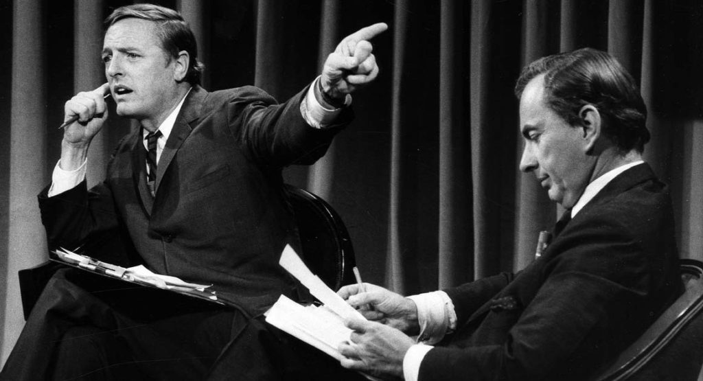 William F. Buckley, Jr. and Gore Vidal's debates revisited in BEST OF ENEMIES.