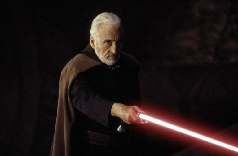 Lee portrayed Count Dooku in the Star Wars prequels Attack of the Clones (2002) and Revenge of the Sith (2005).
