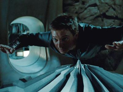 "Jeremy Renner is left hanging in ""Mission: Impossible: Ghost Protocol"""