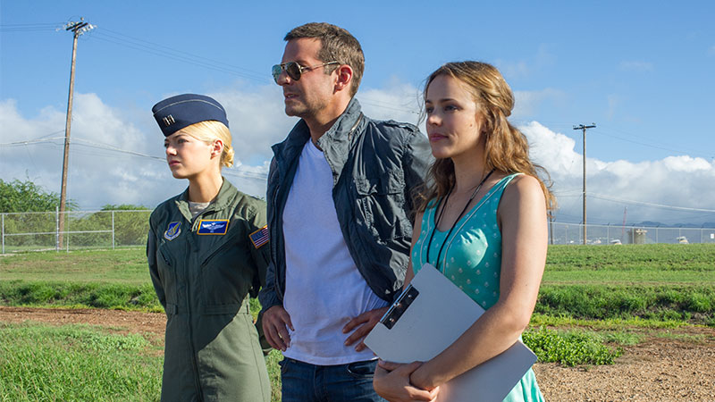 Emma Stone, Bradley Cooper, and Rachel McAdams in the Aloha state.