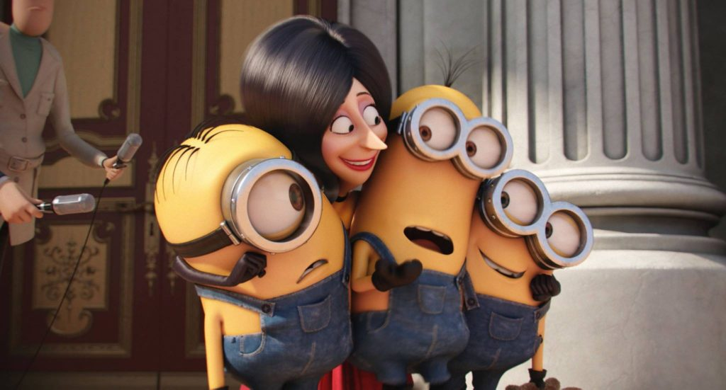 Scarlet Overkill loves the minions! Until, she doesn't.