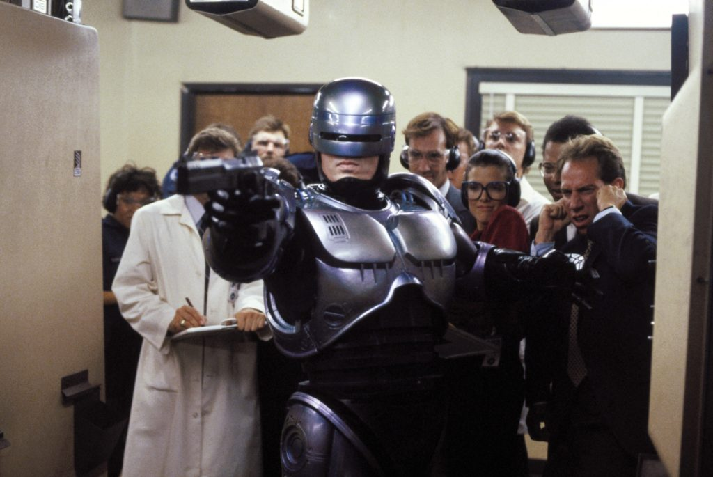 ROBOCOP, Peter Weller, 1987, (c) Orion/courtesy Everett Collection
