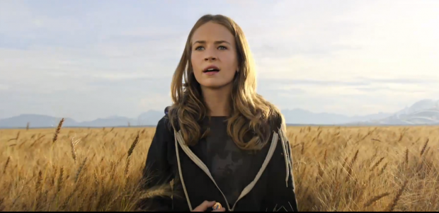 Britt Robertson in TOMORROWLAND.