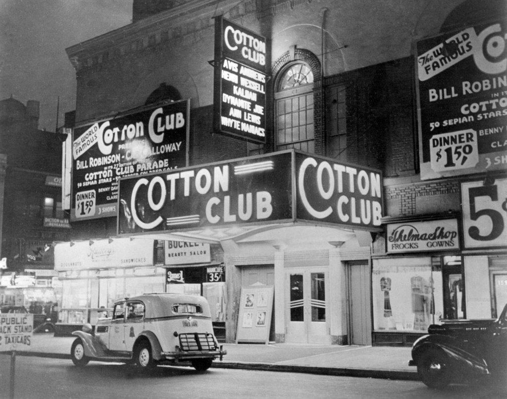 Vintage nightlife scene from the Harlem Renaissance.