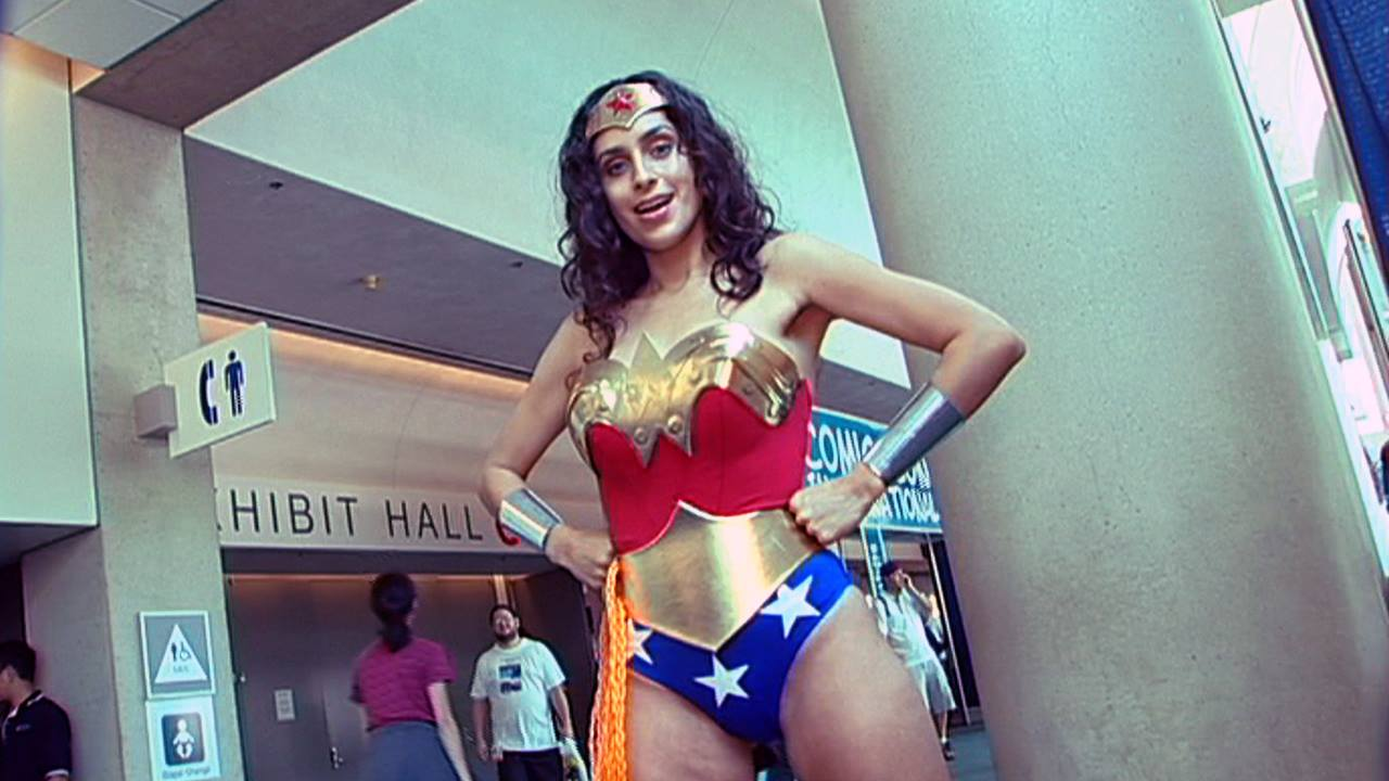 cosplaying Wonder Woman