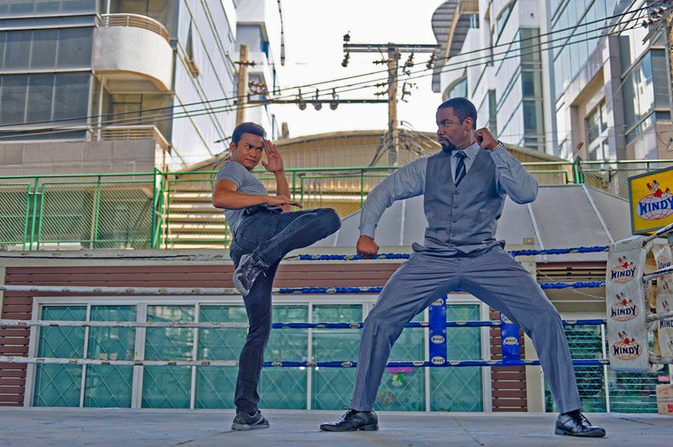 International action star Tony Jaa battles Michael Jai White in THE SKIN TRADE.