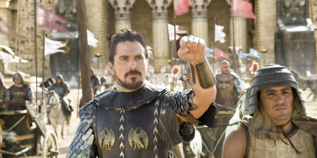 Bale goes in battle in EXODUS: GODS AND KINGS.