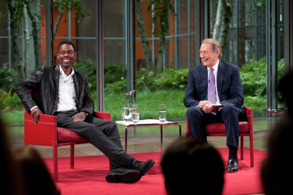 Chris Rock on TV with Charlie Rose in TOP FIVE.