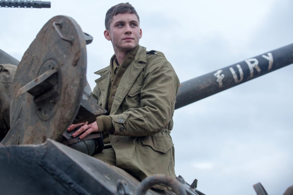 Logan Lerman in FURY.