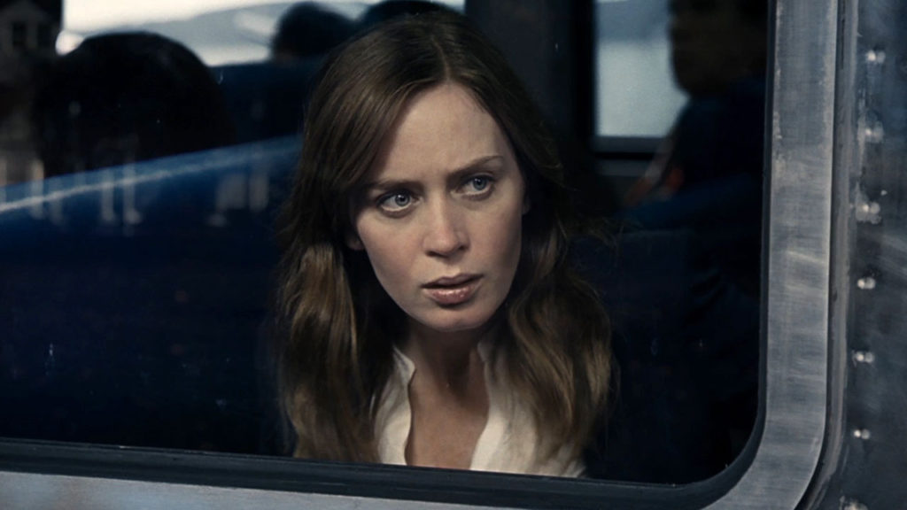 Emily Blunt is THE GIRL ON THE TRAIN.
