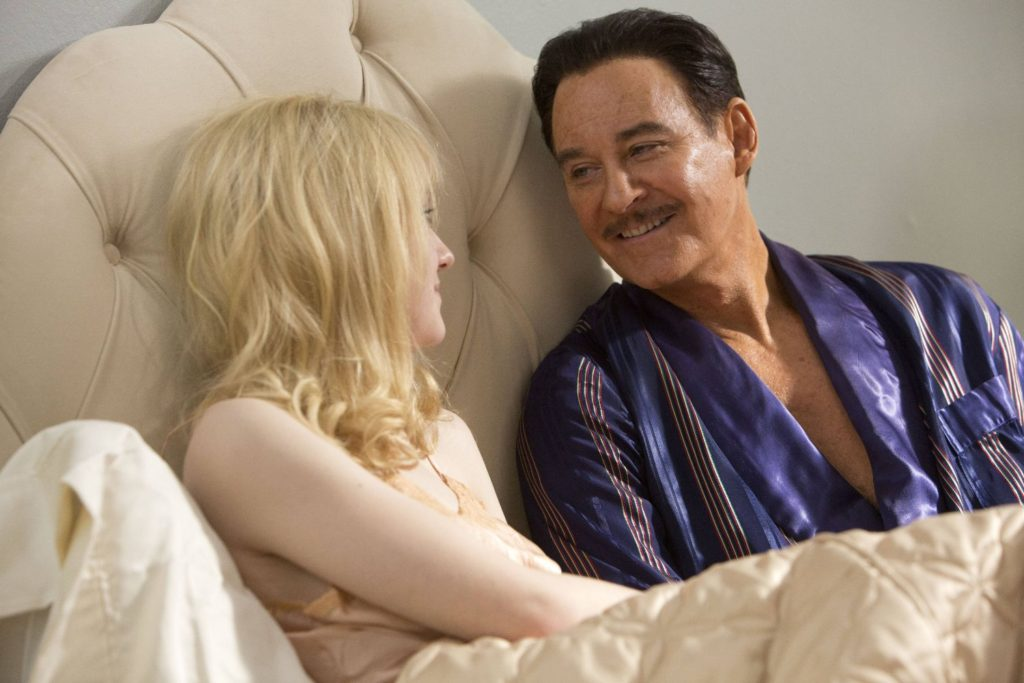 Dakota Fanning and Kevin Kline in the true life scandal film, THE LAST OF ROBIN HOOD.