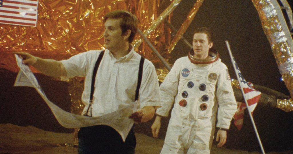 Matt Johnson (L) directs the moon landing and OPERATION AVALANCHE.