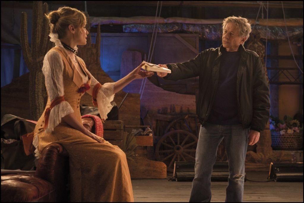 Polanski and Seigner, making VENUS IN FUR.