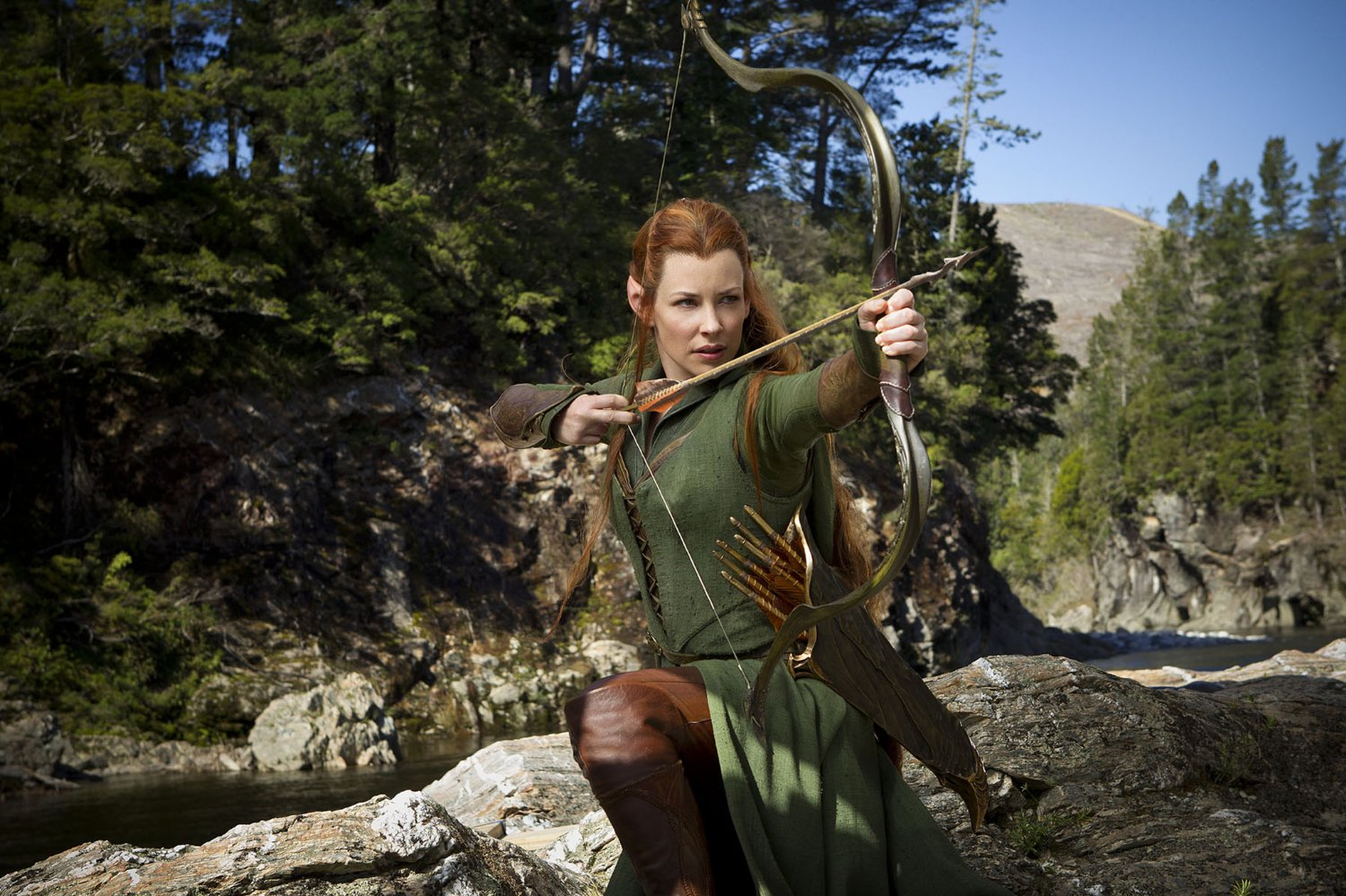 Evangeline Lilly as Tauriel in The Hobbit: The Desolation of Smaug (2013)