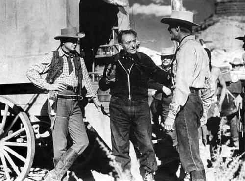 CENTER: director Fritz Lang