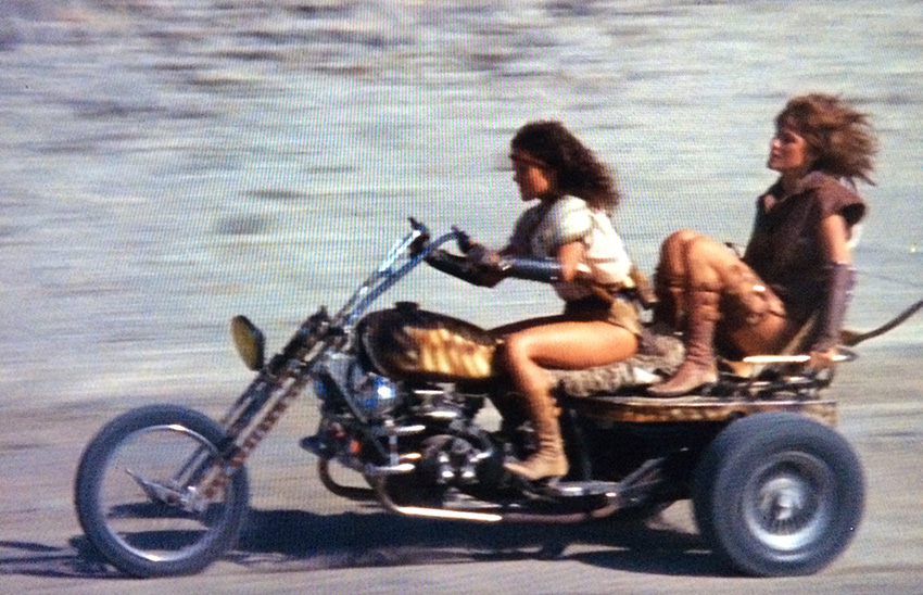Girls on a three-wheeler hold on for dear life in STRYKER!