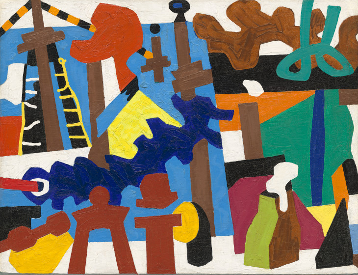 "Study for ""Swing Landscape"" (1937-38) by Stuart Davis"