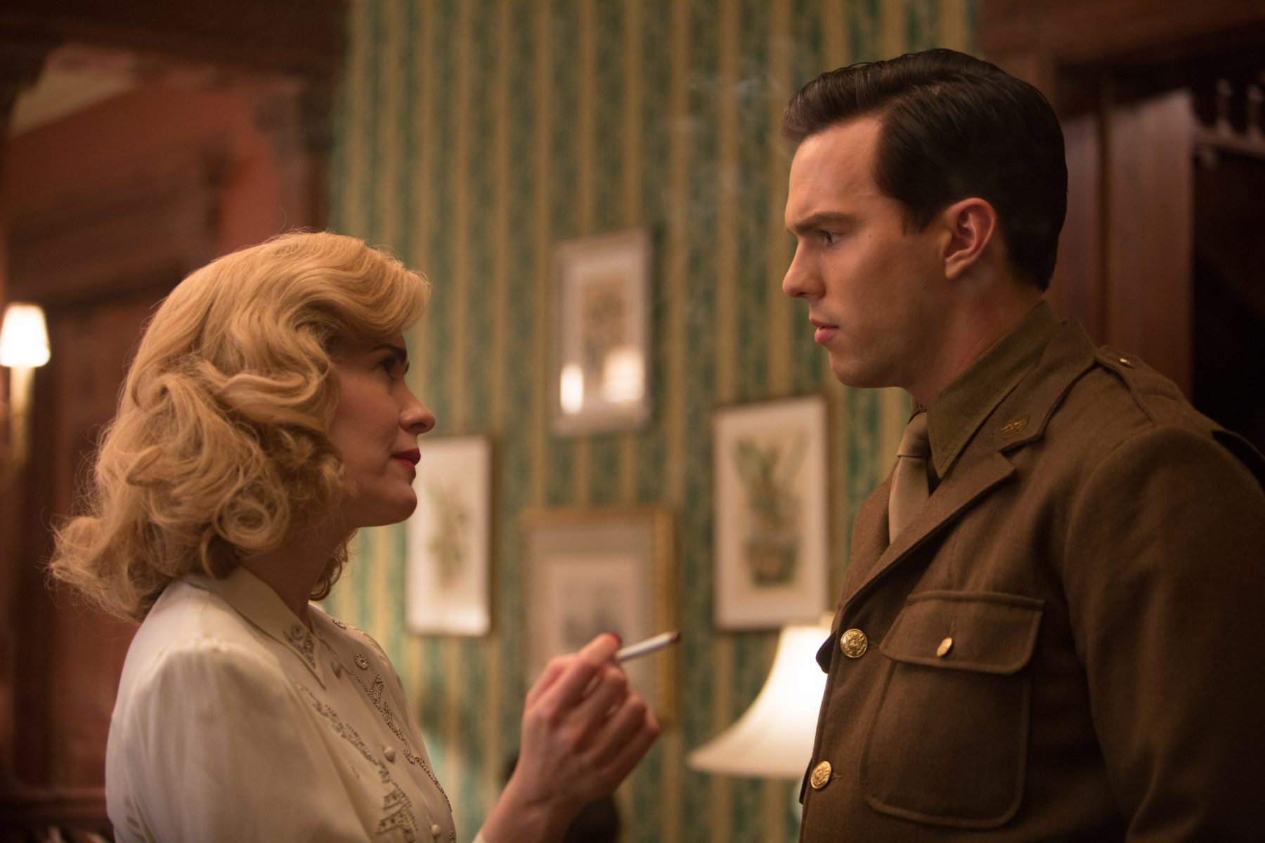 Sarah Paulson and Nicholas Hoult in REBEL IN THE RYE (2017)