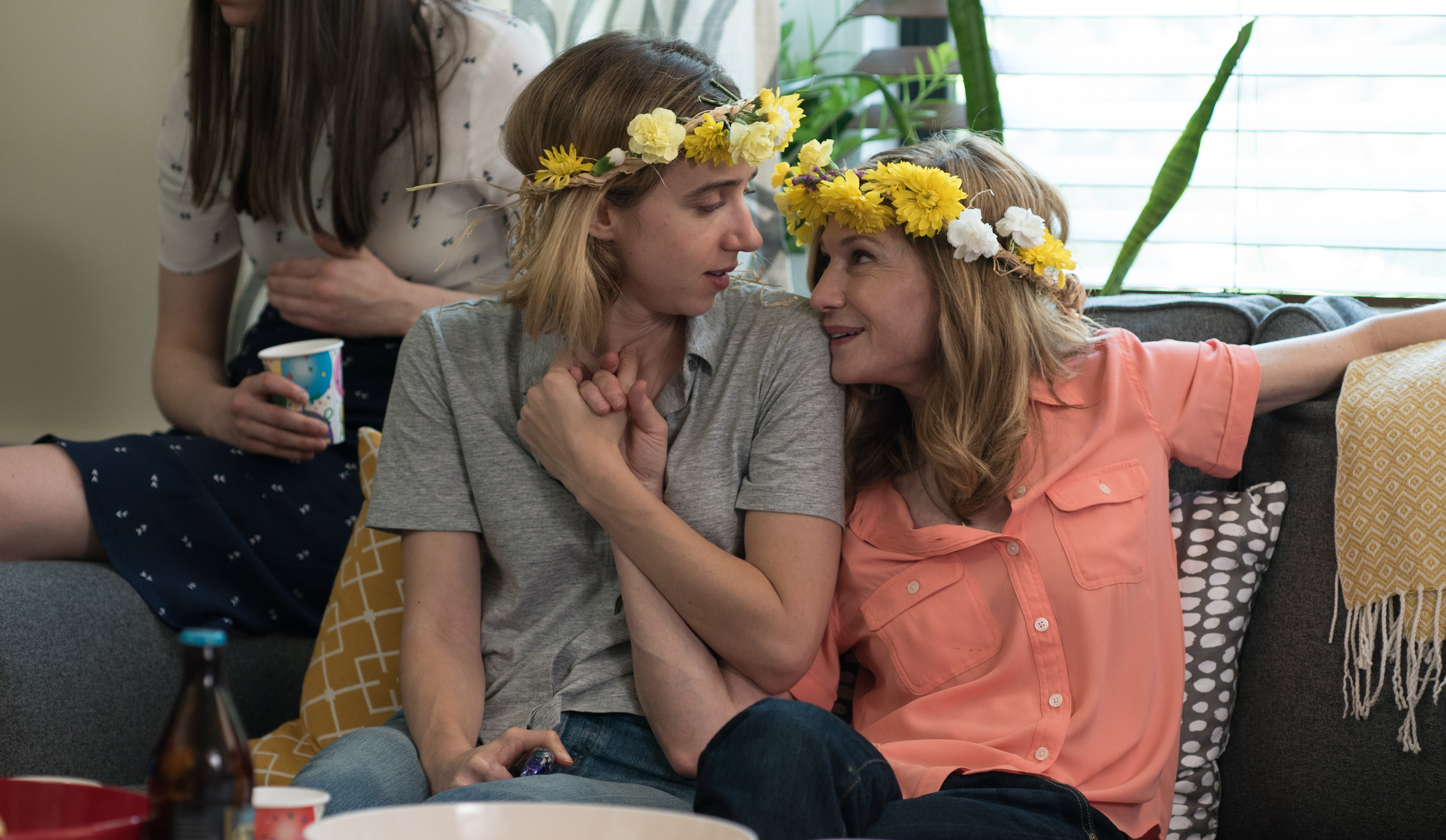 "Zoe Kazan as ""Emily"" and Holly Hunter as ""Beth"" in THE BIG SICK. Photo by Nicole Rivelli."
