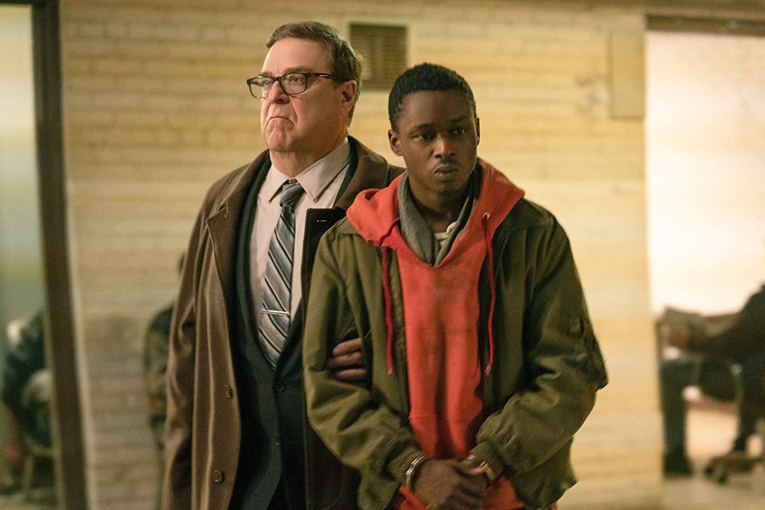 John Goodman and Ashton Sanders in CAPTIVE STATE (2019)