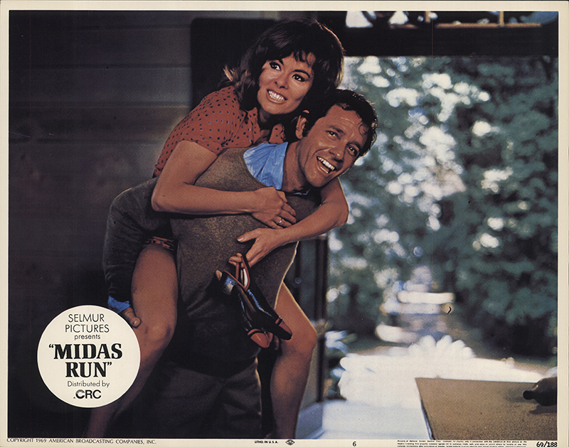 Anne Heywood and Richard Crenna in MIDAS RUN (1969)