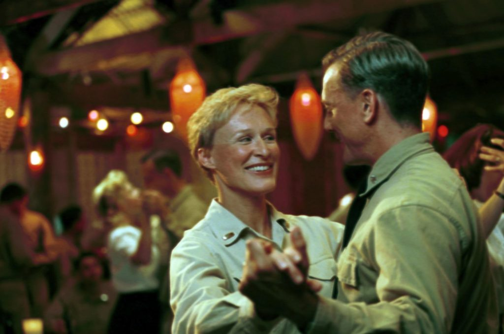 Glenn Close dances with a soldier in SOUTH PACIFIC (2001)