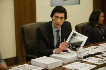 Adam Driver as Dan Jones reviewing the torture report in THE REPORT (2019)