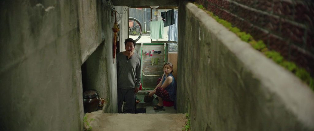 Song Kang Ho and Chang Hyae Jin in PARASITE (2019)