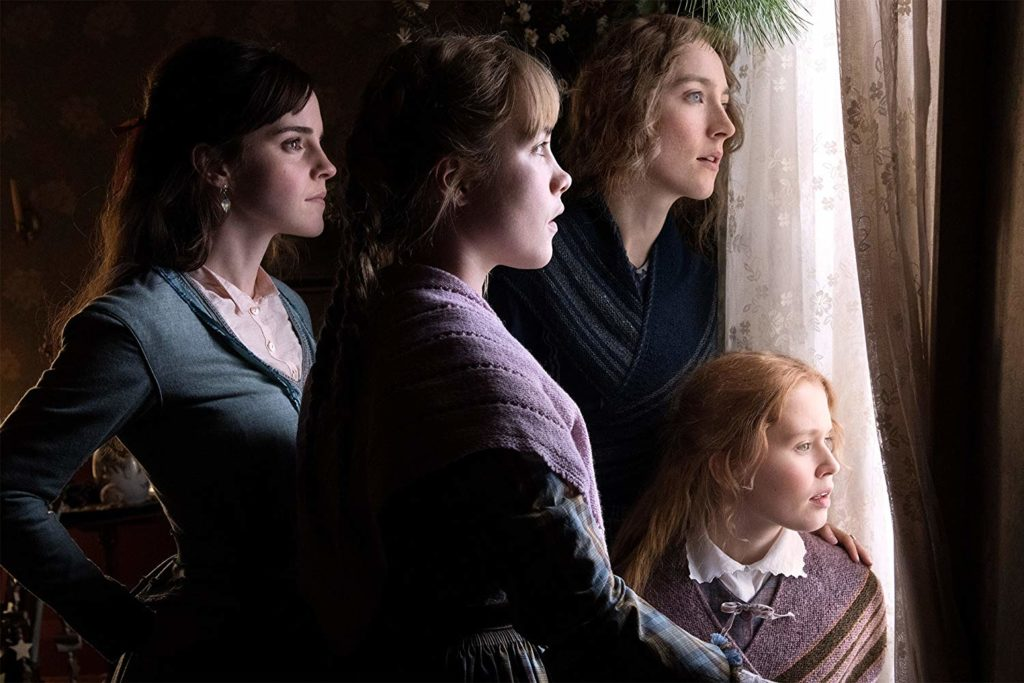 Emma Watson, Florence Pugh, Saoirse Ronan, and Eliza Scanlen in LITTLE WOMEN (2019)