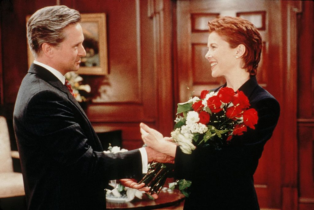 Michael Douglas and Annette Bening in THE AMERICAN PRESIDENT (1995)