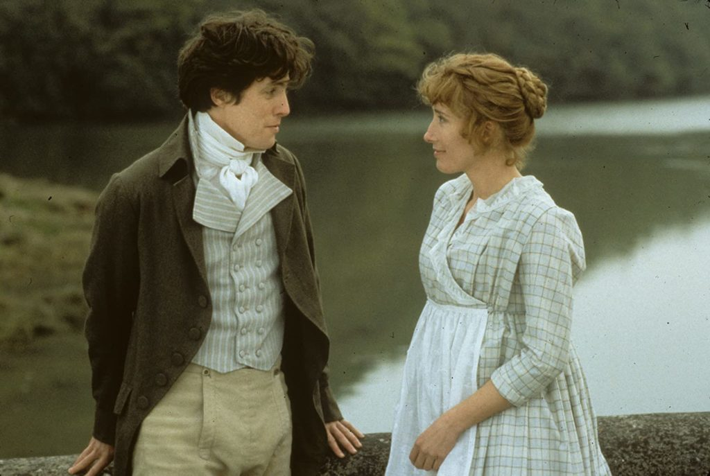 Hugh Grant and Emma Thompson in SENSE AND SENSIBILITY (1995)