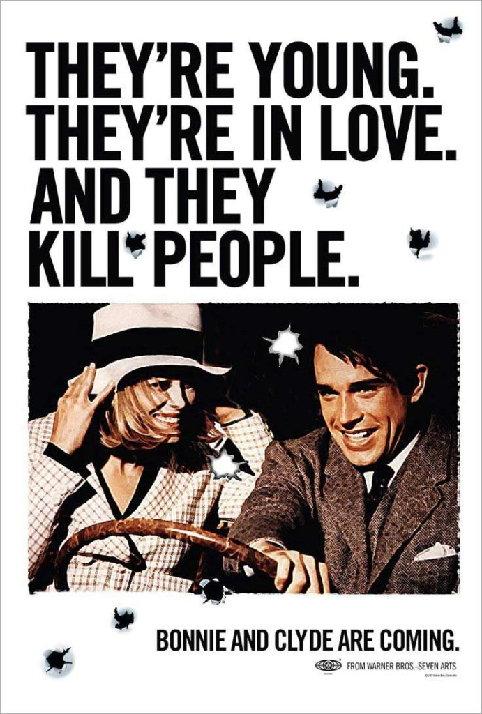 BONNIE AND CLYDE (1967) poster