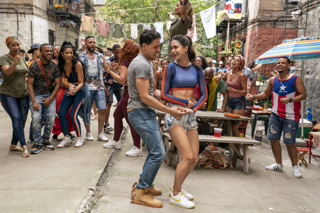Anthony Ramos and Melissa Barrera in IN THE HEIGHTS (2021)